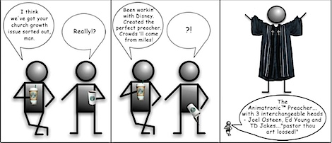 Animatronic Preacher Man